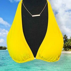 Amazing EUC Yellow Bikini Top Free Ship